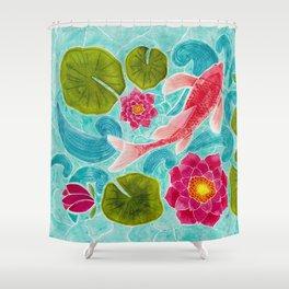 Calm Koi Pond Shower Curtain