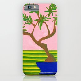 Bonsai: potted plant VI iPhone Case