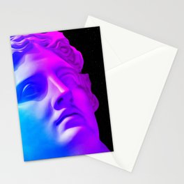 Ancient neon gods #1: Apollo Belvedere Stationery Cards