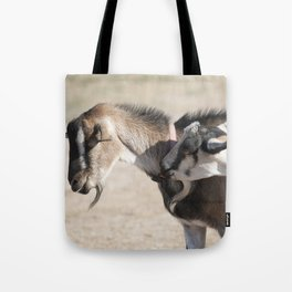 Two Goats on a tote, reusable shopping bag Tote Bag