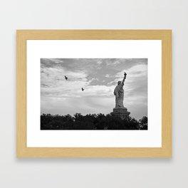 Black and White American Scene Framed Art Print
