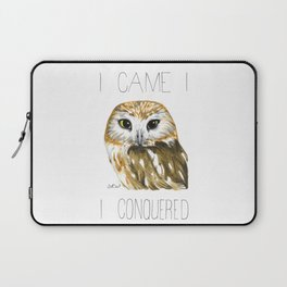 I Came, I Saw-whet, I Conquered (Northern Saw-whet Owl) Laptop Sleeve