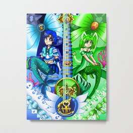 Sailor Mew Guitar #17 - Sailor Mercury & Mew Retasu Metal Print