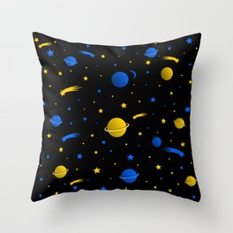 Sideral space Throw Pillow