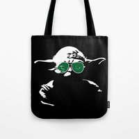 yoda Tote Bags featuring Yoda by eARTh
