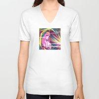 princess bubblegum V-neck T-shirts featuring Princess Bubblegum by Kimball Gray