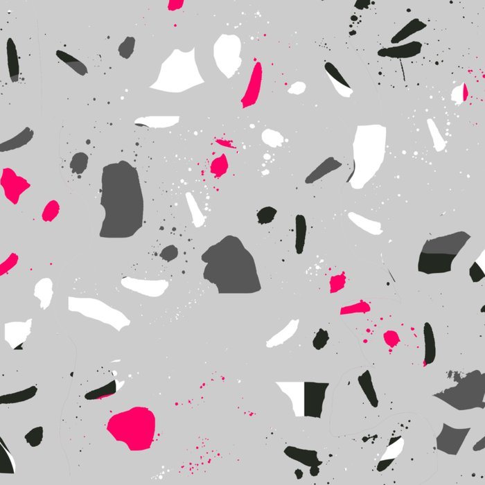 Terrazo grey pink black and white minimal pattern urban modern edgy trendy socal bklyn austin  Leggings
