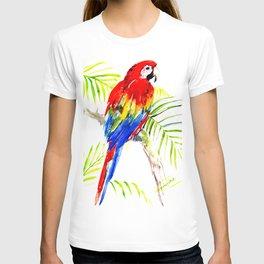 Scarlet Macaw, tropical bird, jungle T-shirt