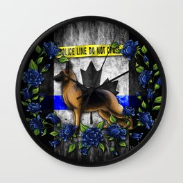 Thin Blue Line Canada Version Wall Clock