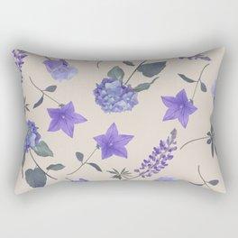 seamless   pattern of blue flowers . Endless texture Rectangular Pillow