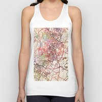 austin Tank Tops featuring Austin by MapMapMaps.Watercolors