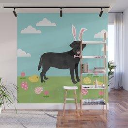 Black Lab labrador retriever dog breed pet art easter portrait costume spring Wall Mural
