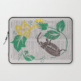 I Shall Fear No Weevil   (Boll Weevil and Cotton Blossoms) Laptop Sleeve
