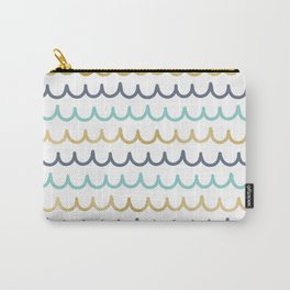 Golden Pastel Waves Carry-All Pouch
