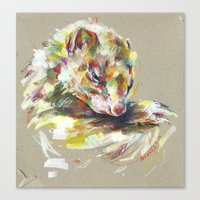 ferret Canvas Prints featuring Ferret IV by Nuance