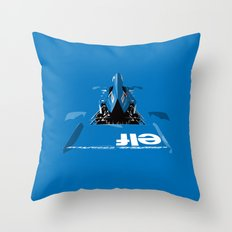 Jackie Stewart, Tyrrell 005, 1973 Throw Pillow