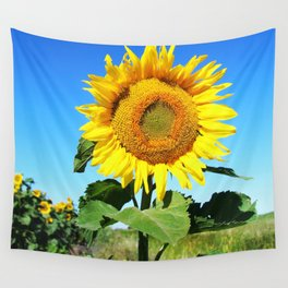 I Stand Alone - Sunflower Wall Tapestry