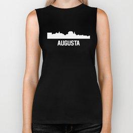 Augusta Maine Skyline Cityscape Biker Tank