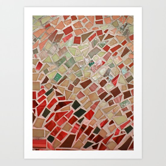 Razzle Red Mosaic Art Print