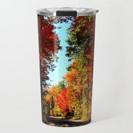 Fall Forest Road Travel Mug