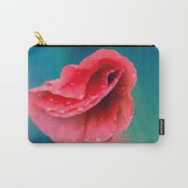 red poppy with drops Carry-All Pouch