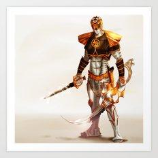 White Ranger Art Print