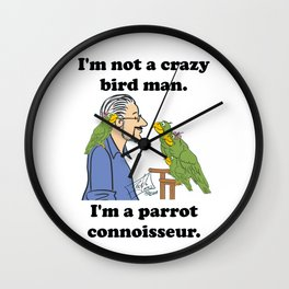 Crazy Bird Man Wall Clock