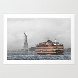 Liberty & The Boat Art Print