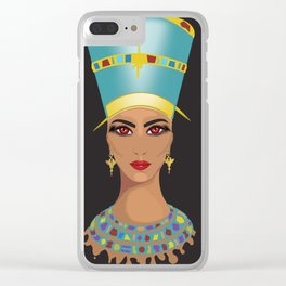 Nefertari Clear iPhone Case