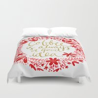 coffee Duvet Covers featuring Coffee by Cat Coquillette