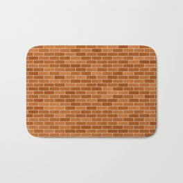 Brown Brick wall Bath Mat