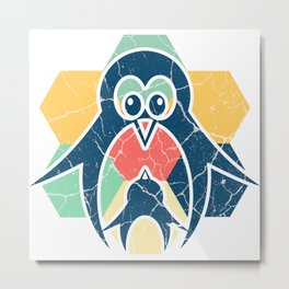 Penguin Gift, Antarctic South Pole Emperor Penguin Metal Print