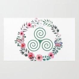 Floral Triskele Rug