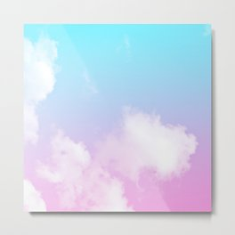Pink Summer Clouds Metal Print
