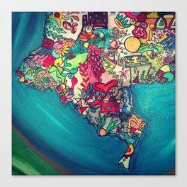Colombia Verde Canvas Print