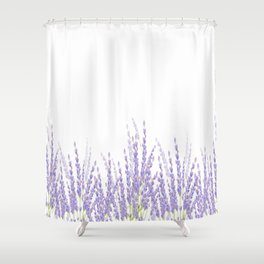 Lavender in the Field Shower Curtain
