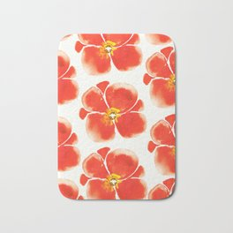 Poppies pattern Bath Mat