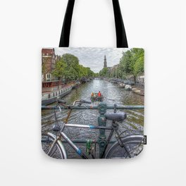 Amsterdam Bridge Canal View Tote Bag