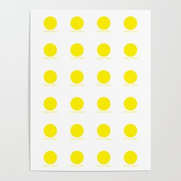 Canary Yellow Poster