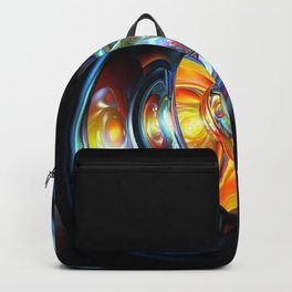 Abstract Spheres And Gravitational Waves 3D Ultra HD Backpack