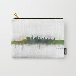 Beverly Hills City in LA City Skyline HQ v3 Carry-All Pouch