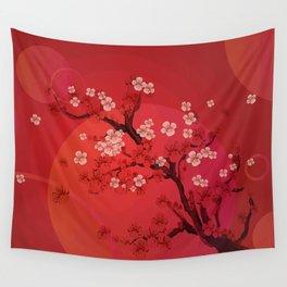Kirschblütenzweig Wall Tapestry