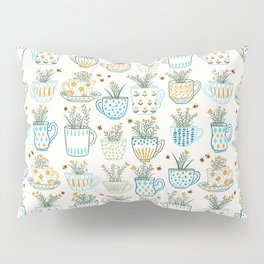 Tea Time // Tea Lovers // Botanical Bees Pillow Sham