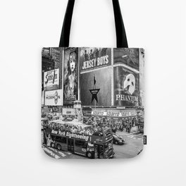 Times Square II (B&W widescreen) Tote Bag