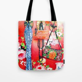 Chinoiserie Love: The Romance Tote Bag