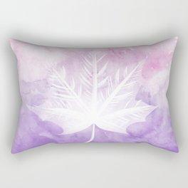 Fall Watercolor - Pink Violet Leaf Rectangular Pillow