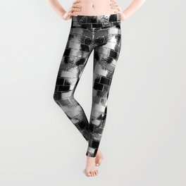 BRICK WALL SMUDGED (Black, White & Grays) Leggings