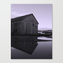 Warehouse Reflection in Lavender Canvas Print
