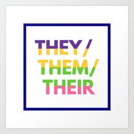 Sapphic Nonbinary Pride Art Print