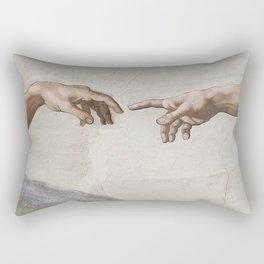 THE CREATION OF ADAM - MICHELANGELO Rectangular Pillow